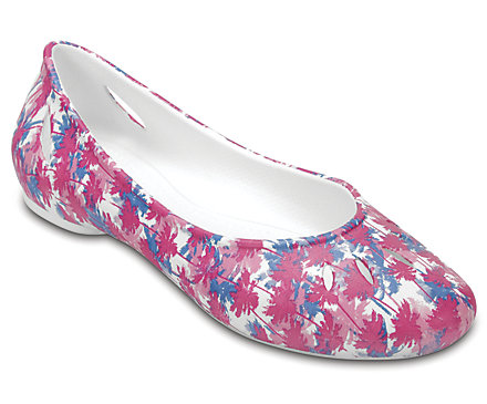 Crocs Womens Kelli Graphic Flats
