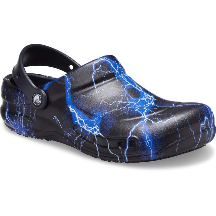 Crocs Bistro Graphic Clogs Unisex Black / Lightning Bolts 43