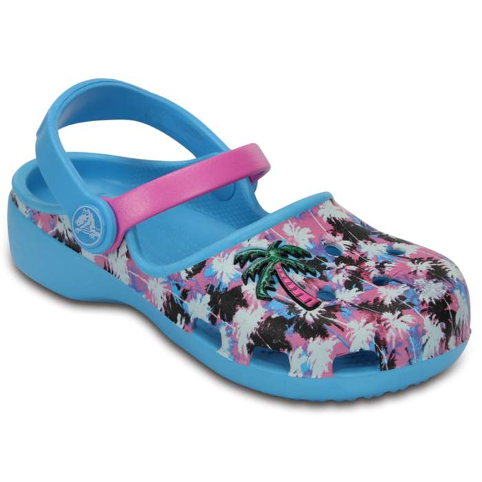Crocs Kids' Crocs Karin Novelty Clogs Electric Blue / Party Pink