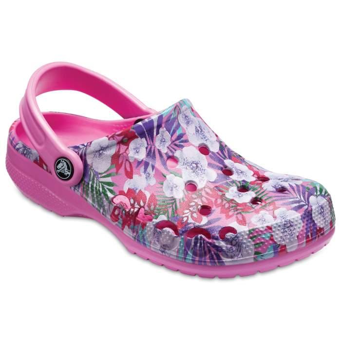 4b16c406b2baf4 Crocs Party Pink   Party Pink Baya Graphic Clogs