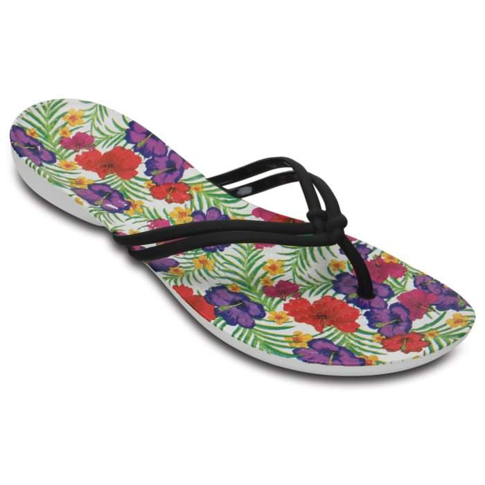 Crocs Women's Crocs Isabella Graphic Flip Black / Floral