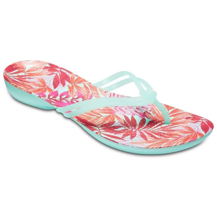 Crocs Women's Crocs Isabella Graphic Flip New Mint/Tropical