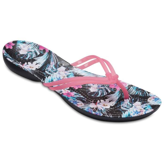 Crocs Women's Crocs Isabella Graphic Flip Paradise Pink/Tropical Floral
