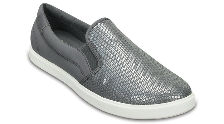 Womens Citilane Sequin Slip-on W SIL Loafers Crocs 56WbNNY