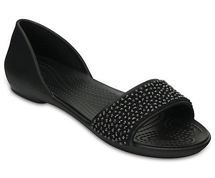 c1b3aaa22318b1 Women s Crocs Lina Embellished D Orsay Flat