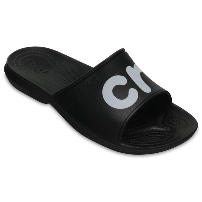 Crocs Classic Graphic Slides Black
