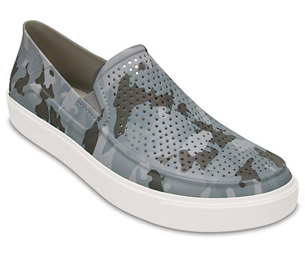 Crocs Mens CitiLane Roka Camo Slip-Ons (Camouflage)