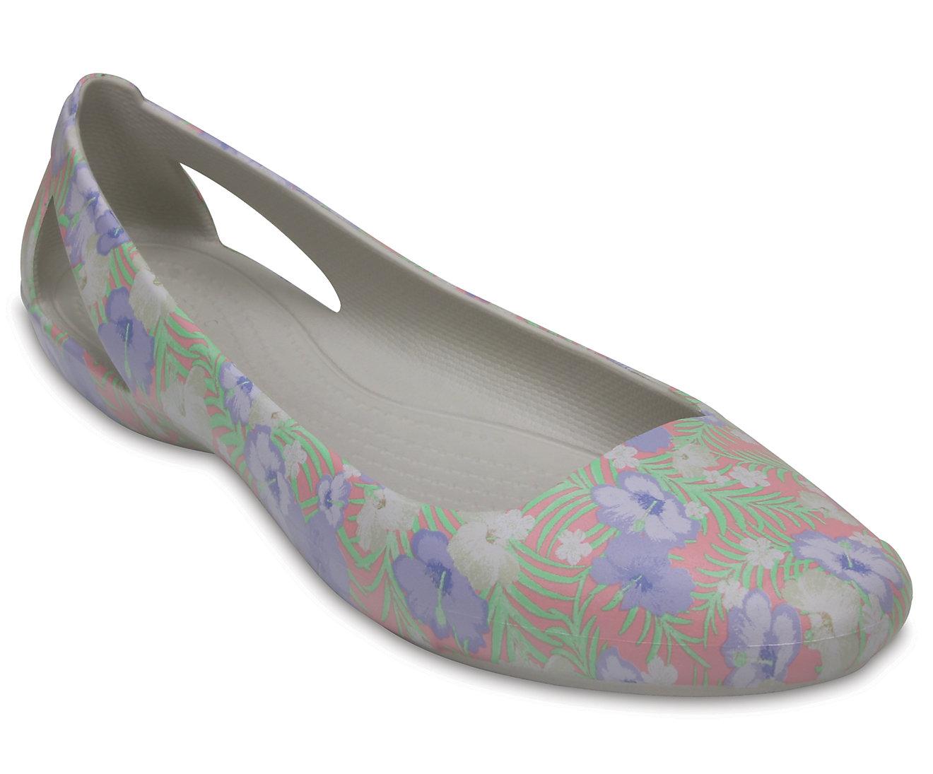 Women's Crocs Sienna Graphic Flat