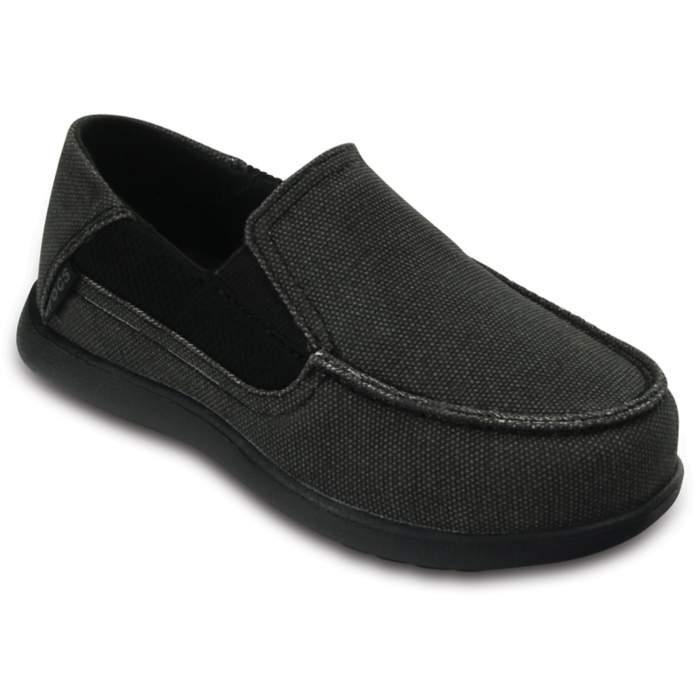 Crocs Kids' Santa Cruz II Loafer Black