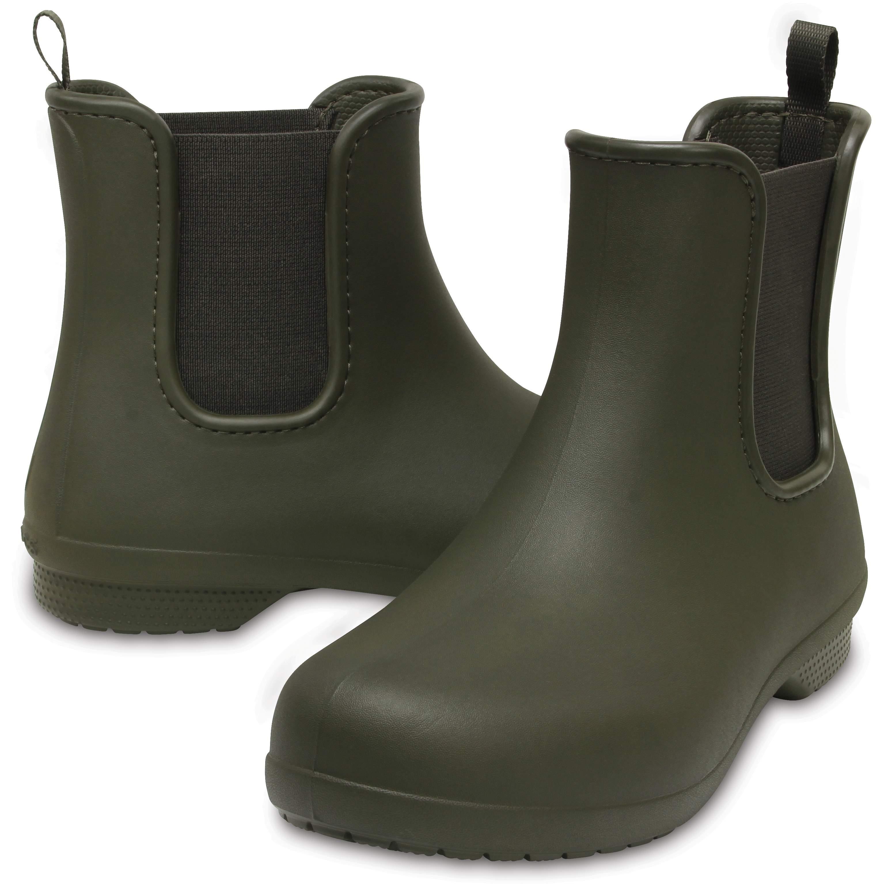 【クロックス公式】 クロックス フリーセイル チェルシー ブーツ ウィメン Women's Crocs Freesail Chelsea Boot ウィメンズ、レディース、女性用 グリーン/緑 21cm,22cm,23cm,24cm,25cm,26cm boot ブーツ