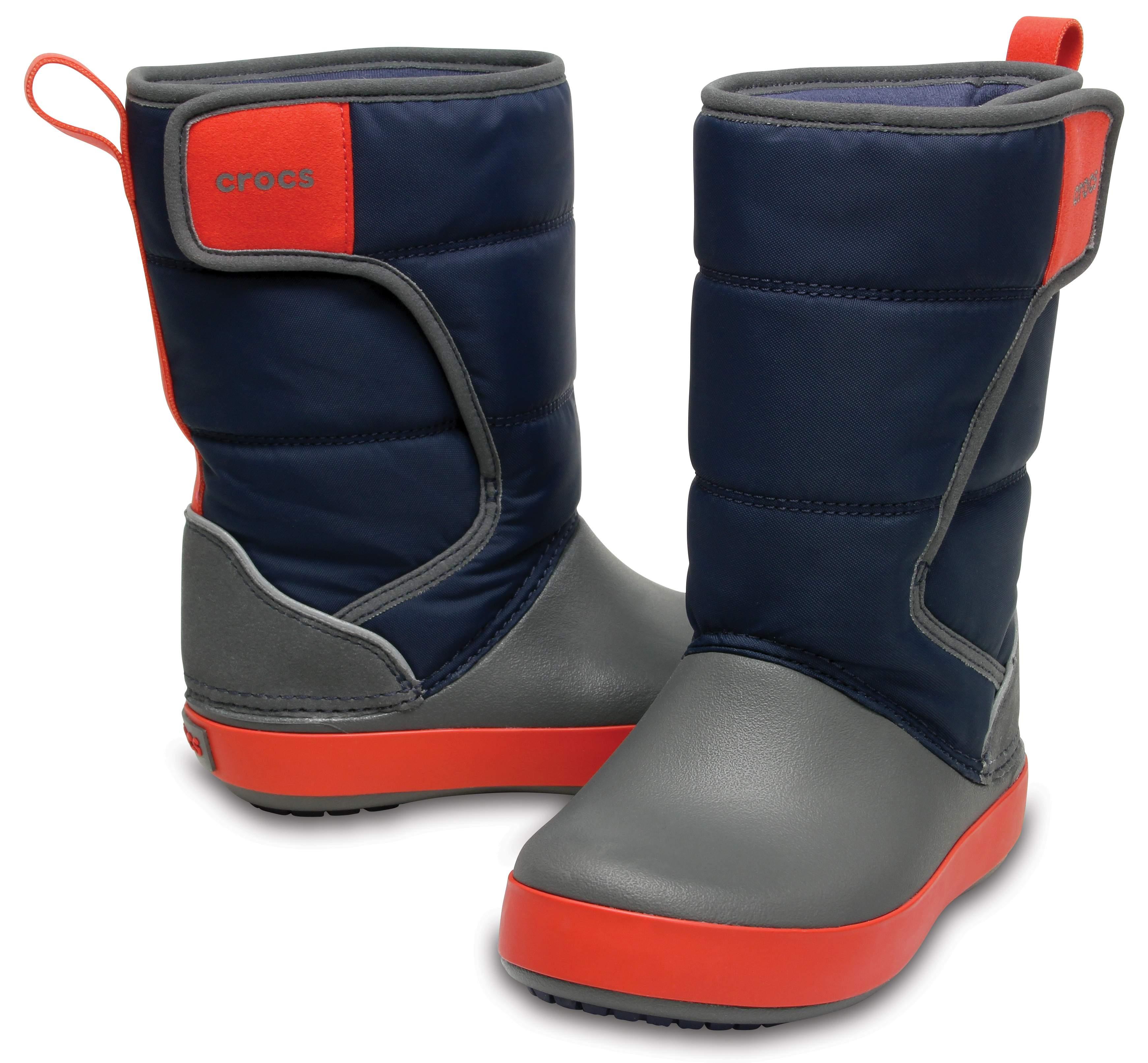 【クロックス公式】 ロッジポイント スノー ブーツ キッズ Kids' LodgePoint Snow Boot ユニセックス、キッズ、子供用、男の子、女の子、男女兼用 ブルー/青 15cm,18.5cm,19.5cm,20cm boot ブーツ