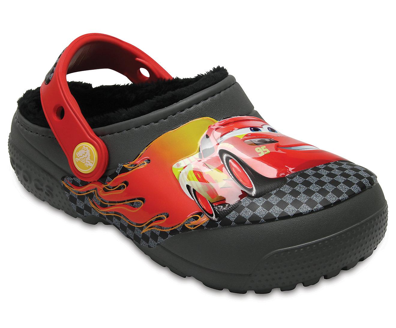 Kids' Crocs Fun Lab Fuzz Lined Cars™ Clog