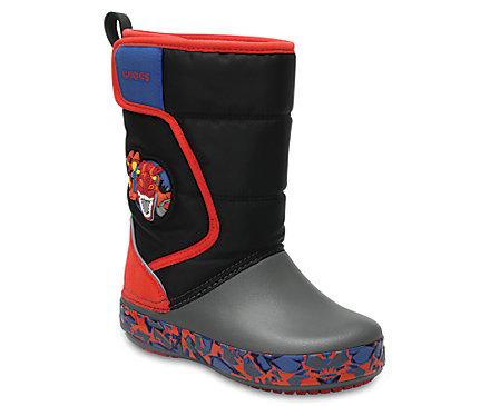 Kids' Crocs LodgePoint Lights Robosaur Rex Boot