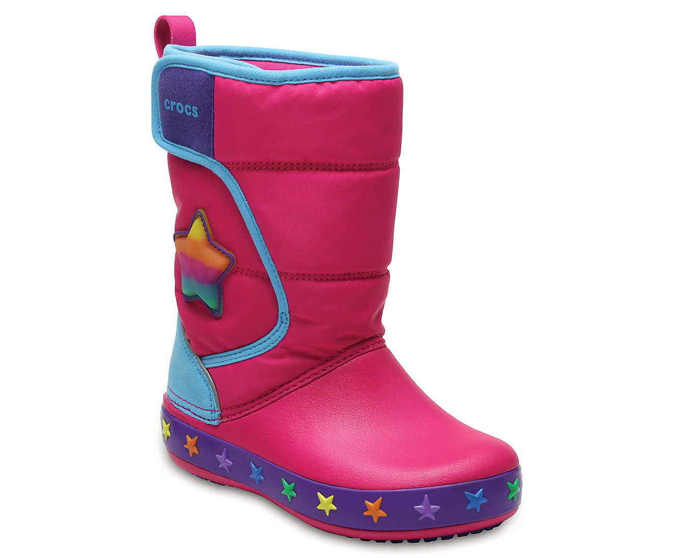 Kids' CrocsLights LodgePoint Star Boot
