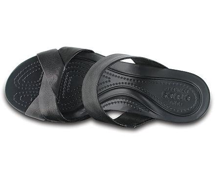 79d04f2187a5 Women s Crocs Leigh-Ann Leather Wedge