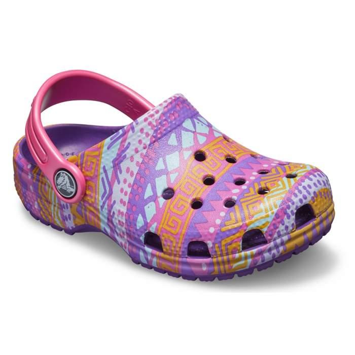 Crocs Classic Kids Clog Graphic Clog Purple