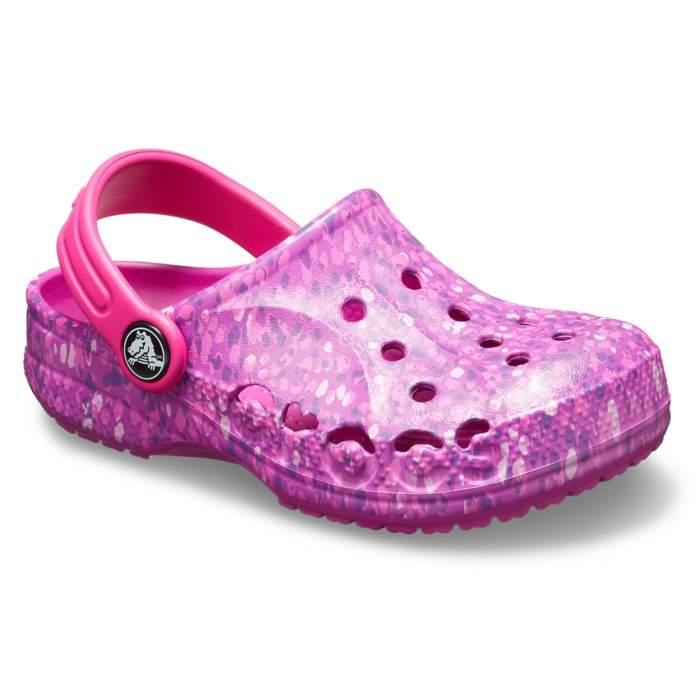 77798fb4e8b482 Crocs Vibrant Violet Kids  Baya Graphic Clog