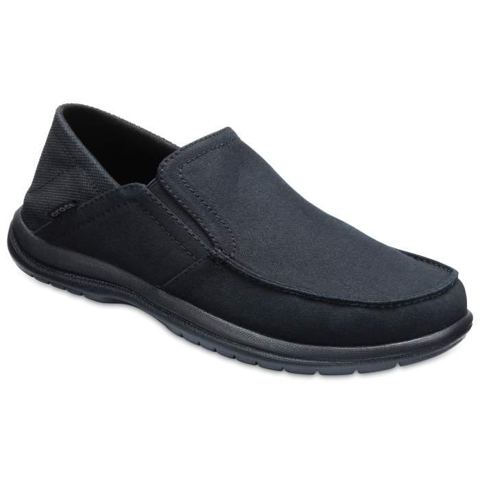 cf271e92aef892 Crocs Black   Black Men s Santa Cruz Convertible Slip-Ons