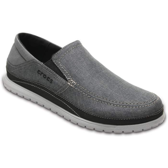 b7600e9948d354 Crocs Graphite   Light Grey Men s Santa Cruz Playa Slip-On