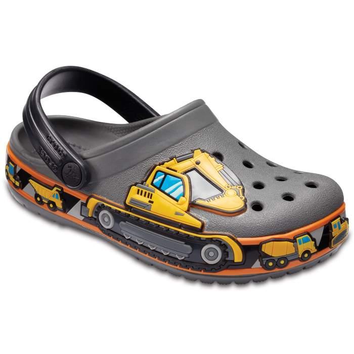 1c9a1537398100 Crocs Slate Grey Kids  Crocband Fun Lab Graphic Clogs