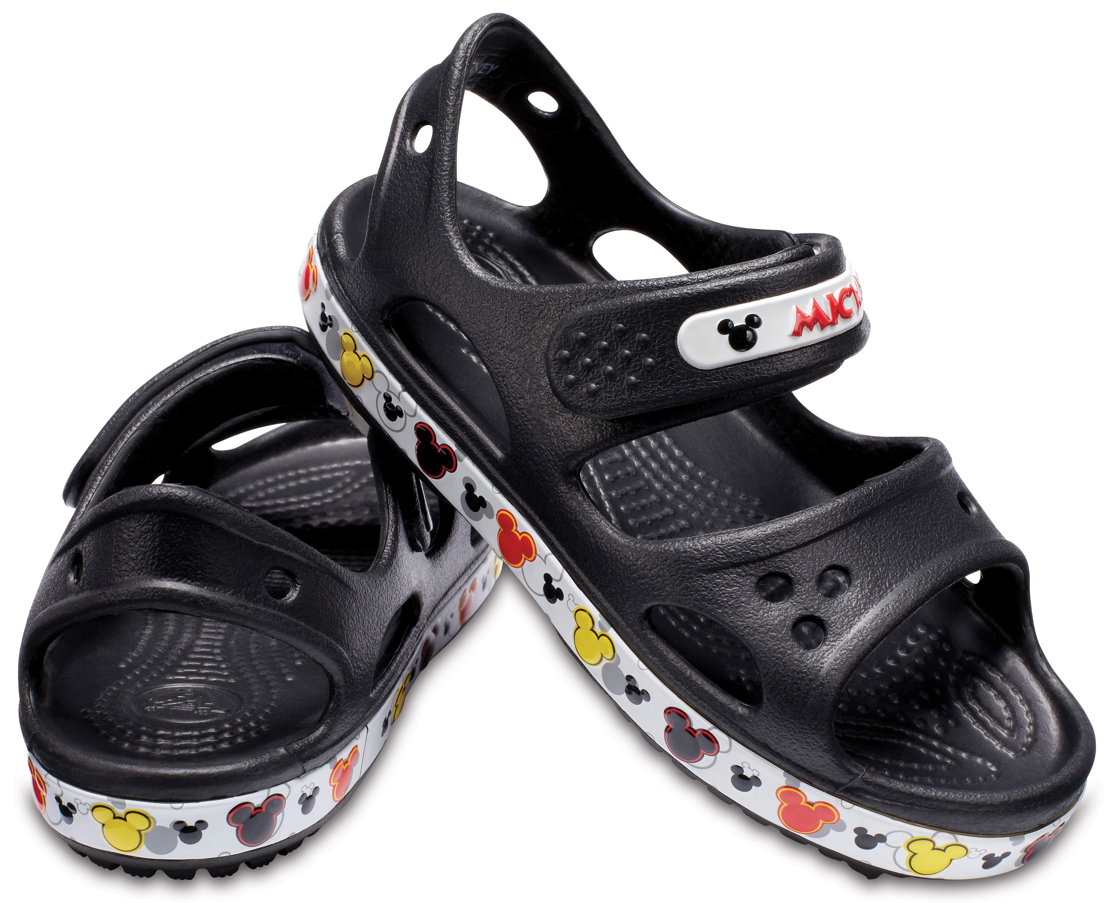 【クロックス公式】 クロックバンド ミッキー 2.0 サンダル PS Kids' Crocband Mickey Mouse II Sandal ユニセックス、キッズ、子供用、男の子、女の子、男女兼用 ブラック/黒 12cm,13cm,14cm,15.5cm,16.5cm sandal サンダル 30%OFF