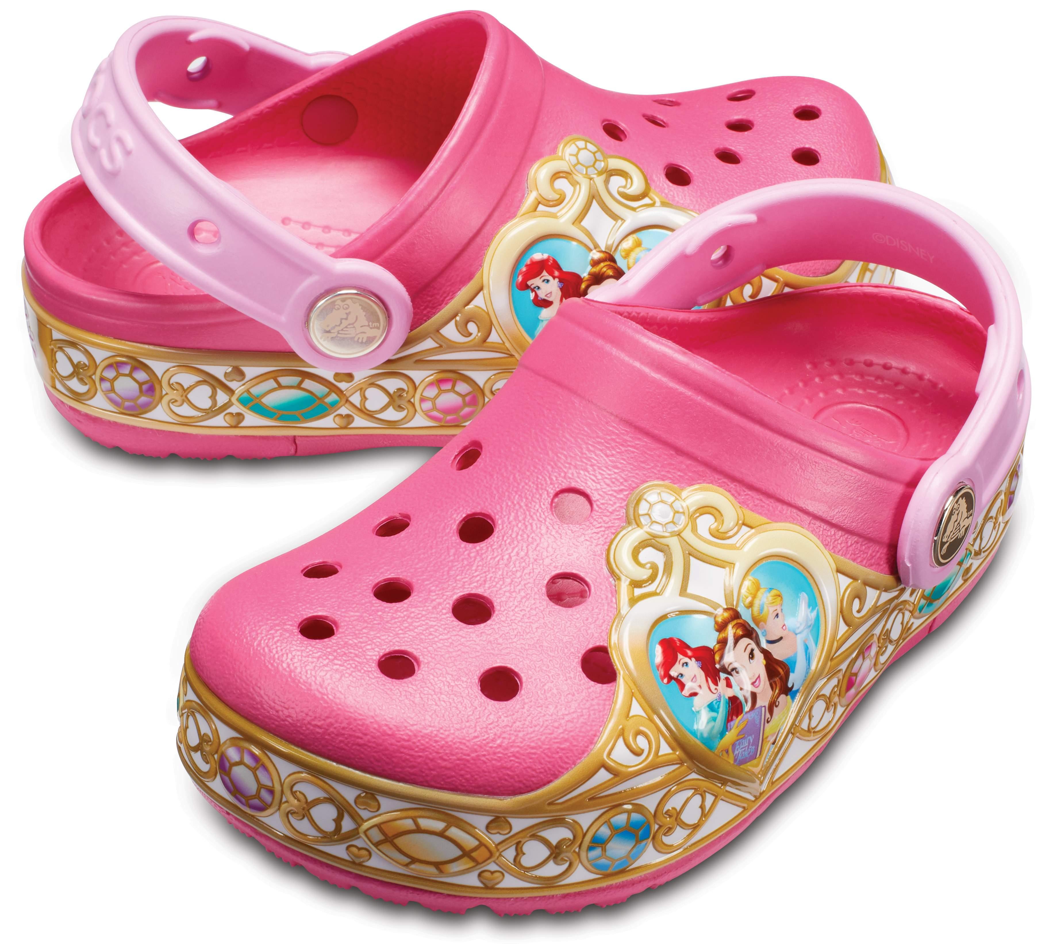 Crocs Kids' Crocband Disney Princess Lights Clogs Vibrant Pink 205014-6JU