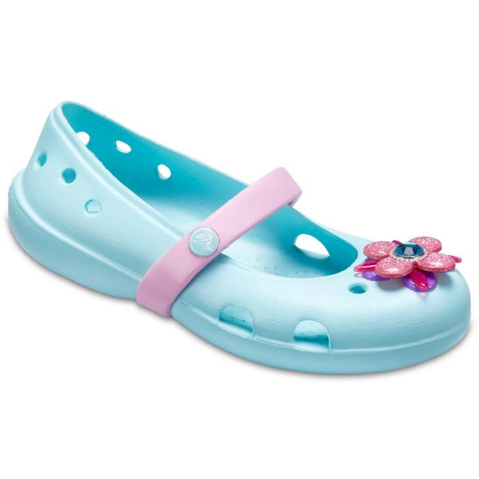 Crocs Kids' Crocs Keeley Springtime Flats Light Blue