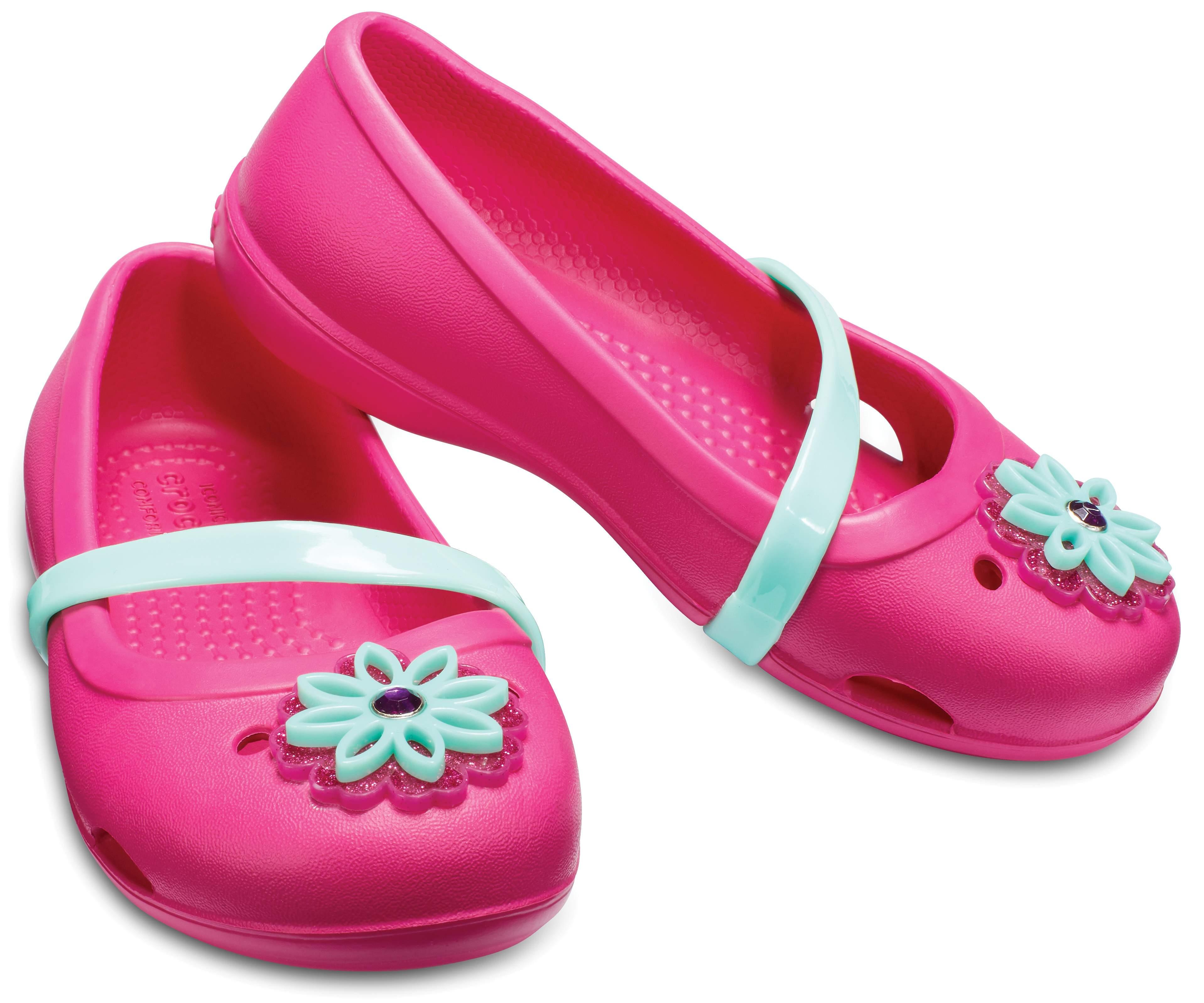 【クロックス公式】 クロックス リナ フラット キッズ Kids' Crocs Lina Charm Flat ガールズ、キッズ、子供用、女の子 レッド/赤 14cm,15cm,15.5cm,16.5cm,18cm,20cm flat フラットシューズ バレエシューズ ぺたんこシューズ 20%OFF
