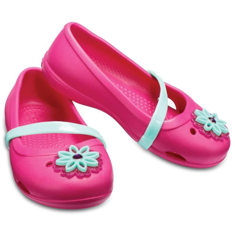 【クロックス公式】 クロックス リナ フラット キッズ Kids' Crocs Lina Charm Flat ガールズ、キッズ、子供用、女の子 レッド/赤 14cm,15cm,15.5cm,16.5cm,18cm,20cm flat フラットシューズ バレエシューズ ぺたんこシューズ 33%OFF