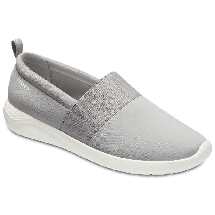 3003f00de723d9 Crocs Light Grey   White Women s Literide Slip-On