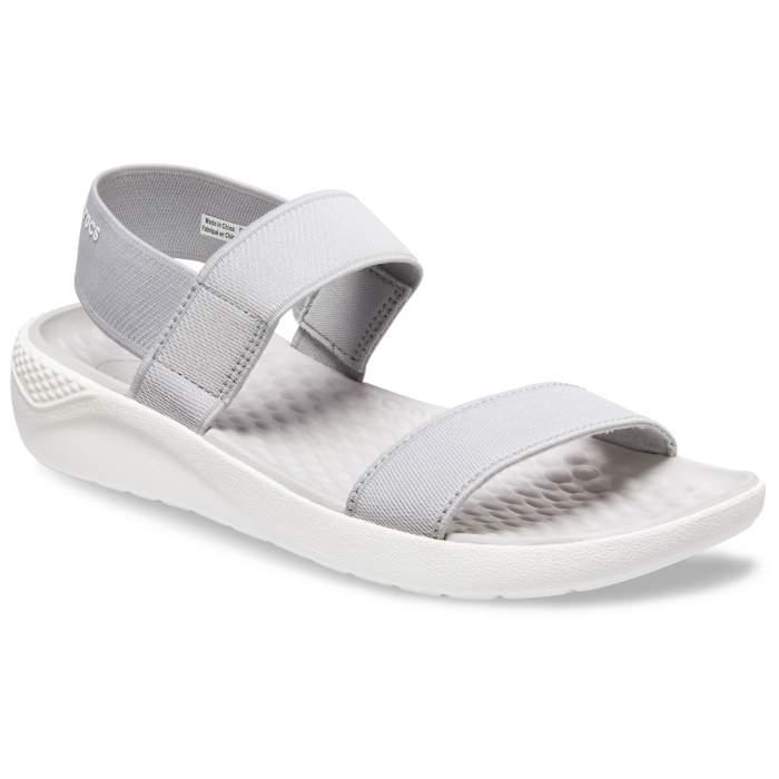 1b7cab353c2db7 Crocs Light Grey   White Women s Literide Sandal