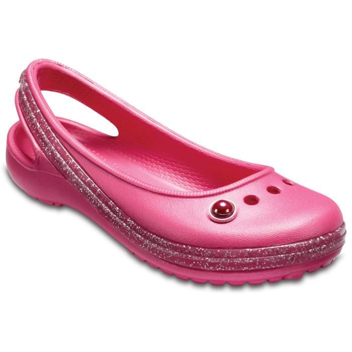 Crocs Kids' Genna II Sparkle Band Slingbacks Paradise Pink