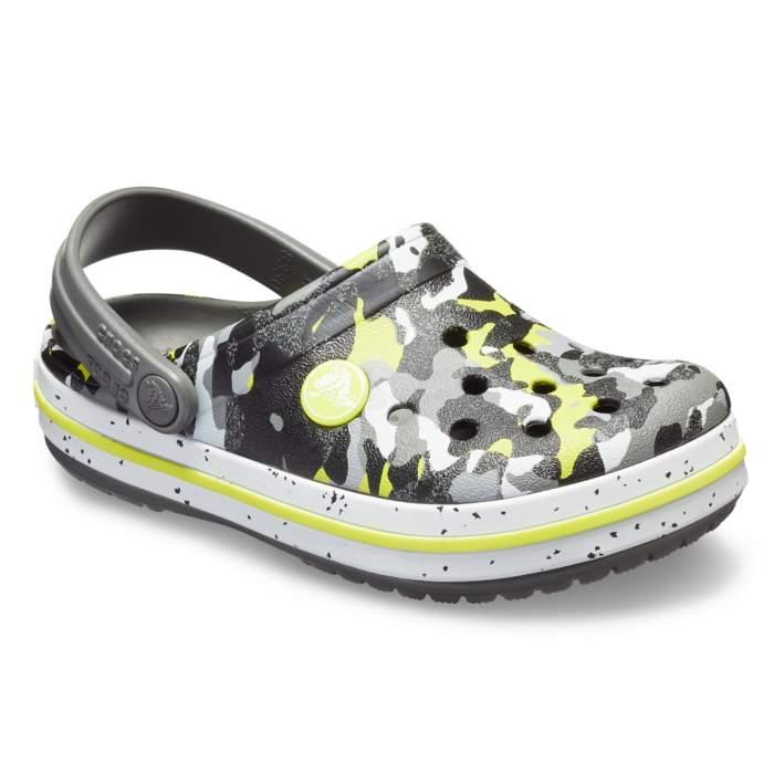 3d5758ab8e8c7c Crocs Graphite Camo Kids  Crocband Camo Spec Clog