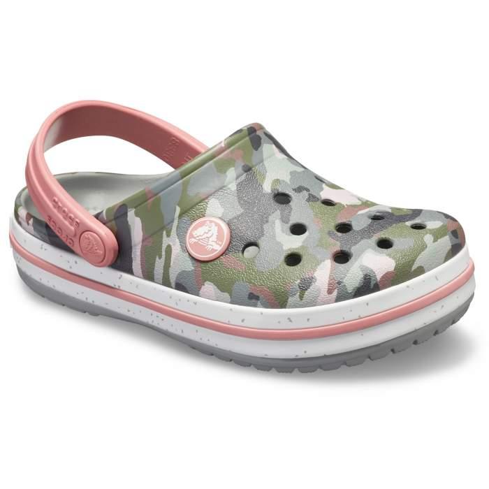 c06a79242f7187 Crocs Camo Light Grey Kids  Crocband Camo Spec Clog