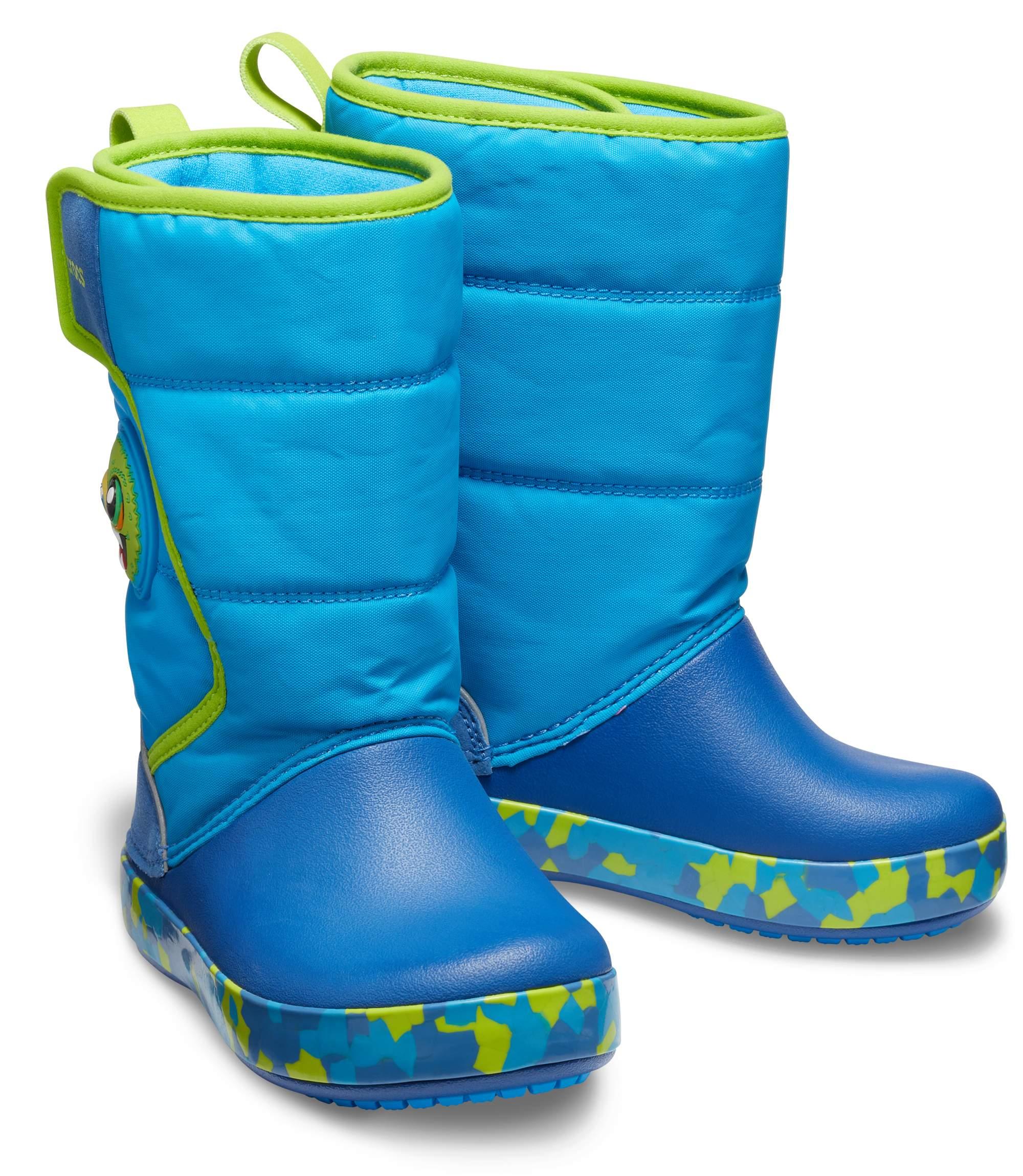 【クロックス公式】 クロックス ファン ラブ モンスター ライツ ブーツ キッズ Kids' Crocs Fun Lab Monster Lights Boot ユニセックス、キッズ、子供用、男の子、女の子、男女兼用 ライトブルー/青 14cm,15cm,15.5cm,16.5cm,17.5cm,18cm,18.5cm,19cm,19.5cm,20cm,21cm boot ブーツ