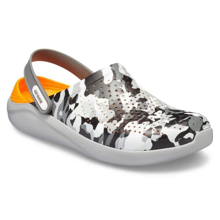 9471db2a9e7fb8 Crocs Camo Light Grey Literide Graphic Clog