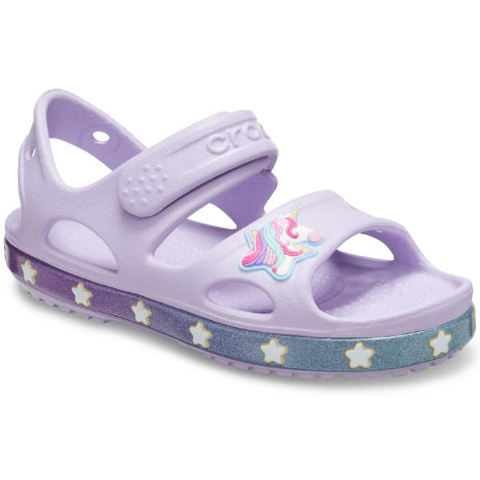 Crocs Fun Lab Unicorn Charm Sandalen Kinder Lavender 27