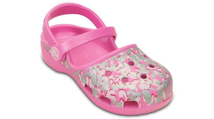 Girls' Crocs Karin Sparkle Leopard Clog