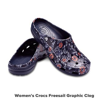 Women's Crocs Freesail Graphic Clog