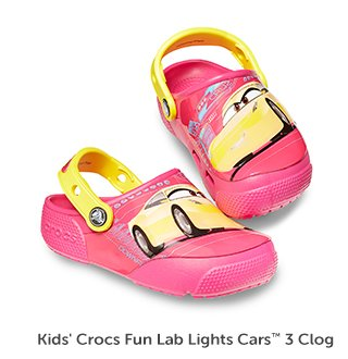 Kids' Crocs Fun Lab Lights Cars 3 Clog