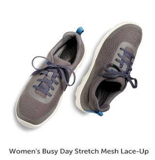 Women's Busy Day Stretch Mesh Lace-up