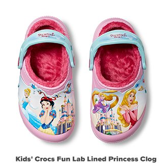 Kids' Crocs Fun Lab Lined Princess Clog