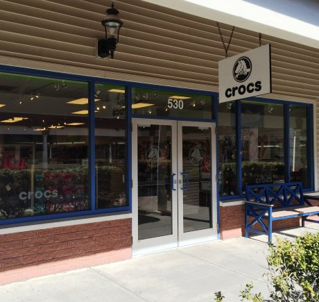 Crocs storefront. Your local Shoe Store in Wrentham, MA.