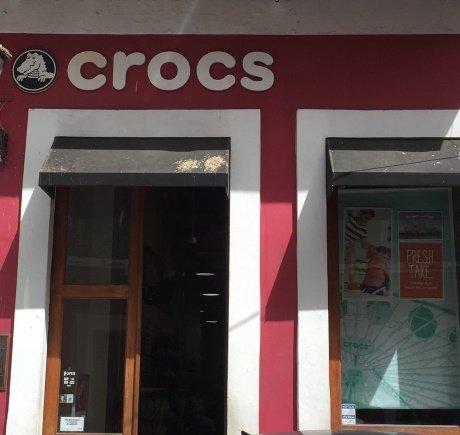 Crocs storefront. Your local Shoe Store in Old San Juan, PR.