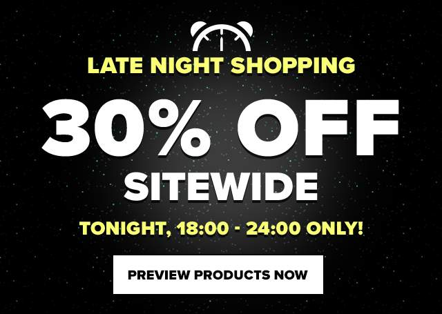 Late Night Shopping! 30% off Sitewide!