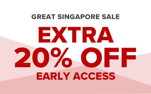 Great Singapore Sale! Extra 20% off!