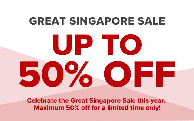 Great Singapore Sale! Up to 60% off!