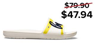 Drew Barrymore Crocs Sloane Graphic Slide