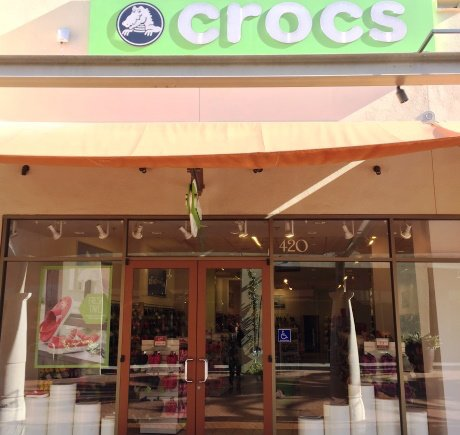 Crocs storefront. Your local Shoe Store in Commerce, CA.