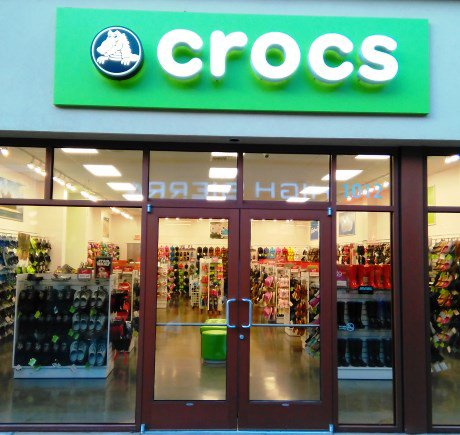 Crocs storefront. Your local Shoe Store in Portland, OR.